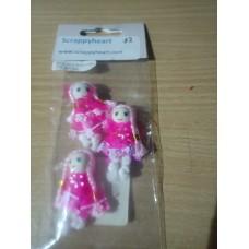Dolls with Rhinestones (pink)